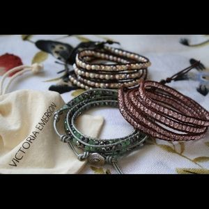 Victoria Emerson Rose Pink Wrap Bracelet